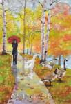 Geese Promenade