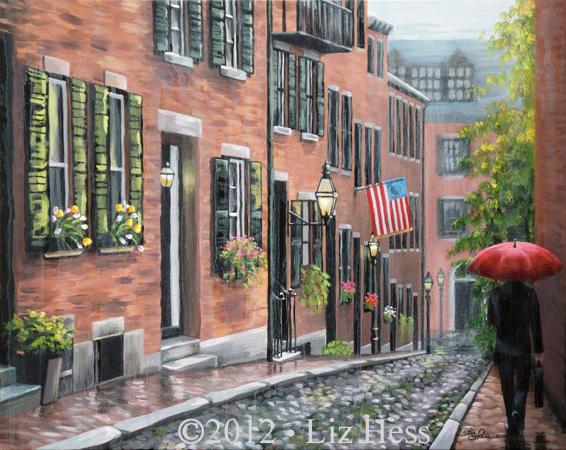 Old Boston's Beacon Hill