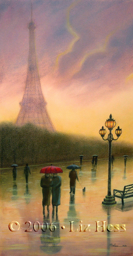 Evening At The Eiffel Print