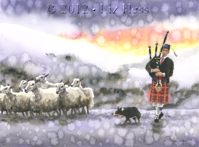 Northern Scottish Bagpiper II