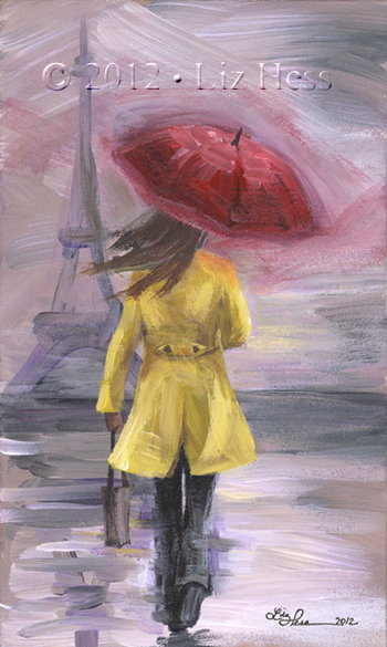 Parisian Rain Study
