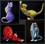 Colorful-Cats-Set-Of-4