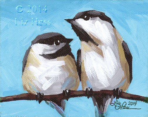 Chickadee-Pair