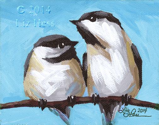 Chickadee-Pair