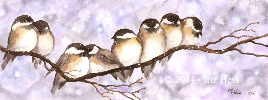 Eight-Chickadees