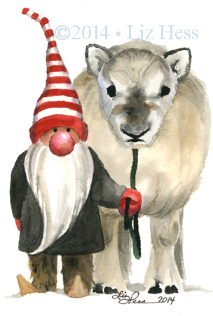 A-Gnome-&-His-Baby-Reindeer
