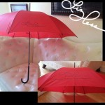 Signed Red Umbrellas