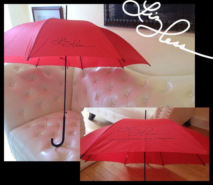 Signed Red Umbrellas