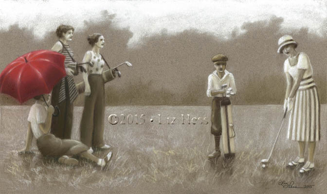 1930s-Ladies'-Golf-Club