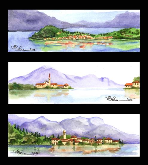 Lake Como Tritych Study